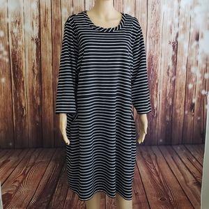 Lane Bryant Dress 22/24 Black Striped